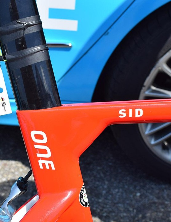 Dillier's nickname 'Sid' adorns the top tube of the frameset