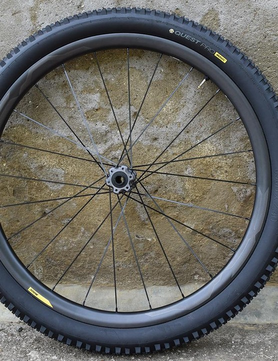 The range-topping Quest XA Pro Carbon is Mavic's first carbon-rimmed mountain bike wheelset