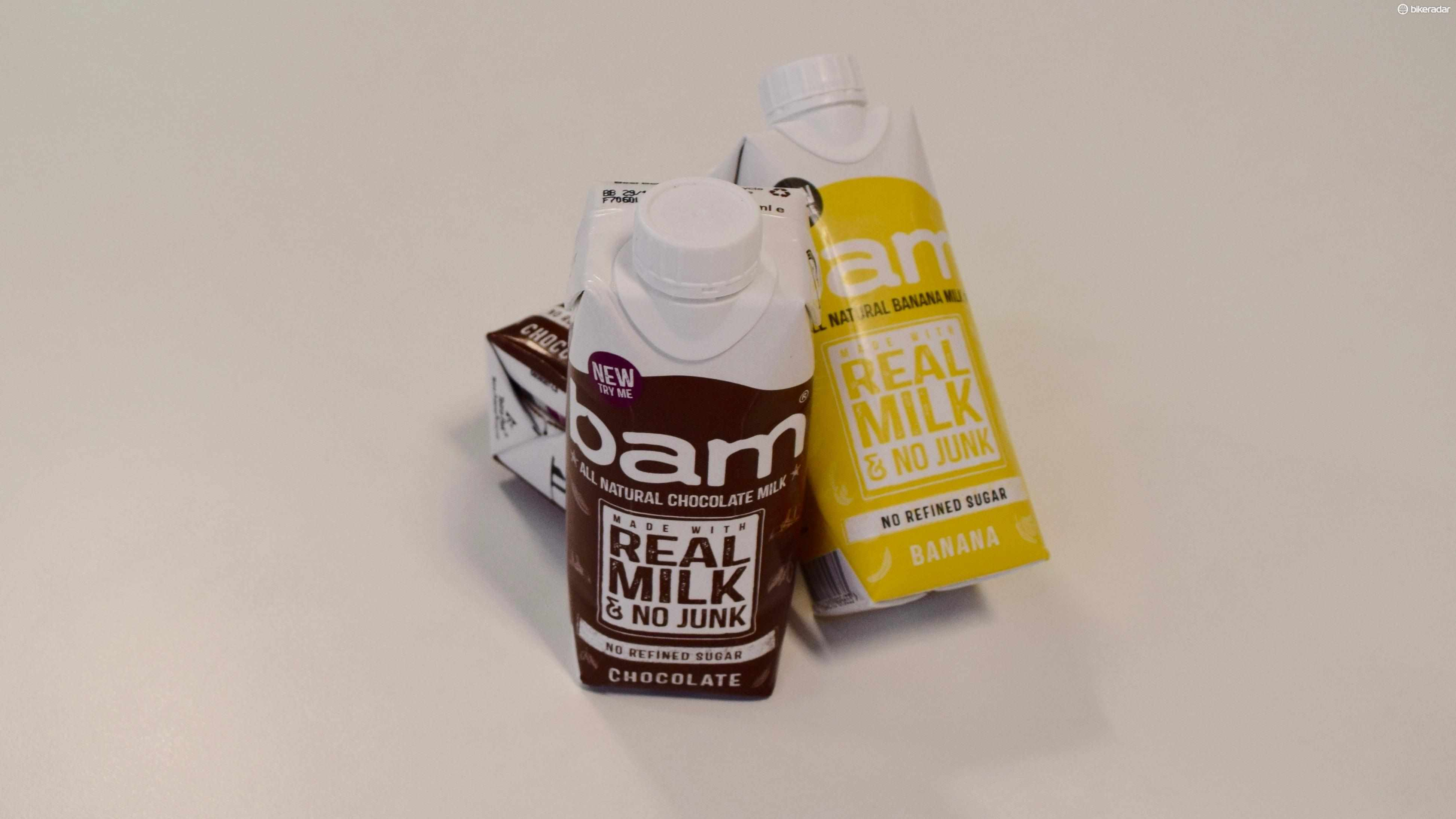 Bam's All Natural Milk Drink comes in two flavours, in 330ml cartons