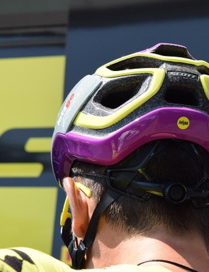 A look at the rear of the helmet