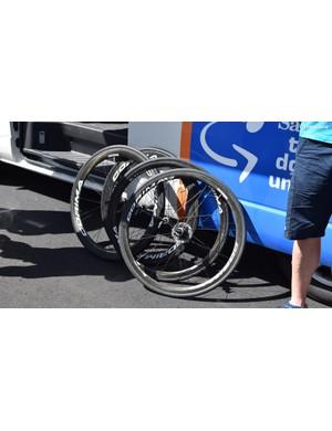 A few of Astana's spare wheels