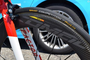 AG2R La Mondiale uses Continental Competition ALX 25mm tubular tyres