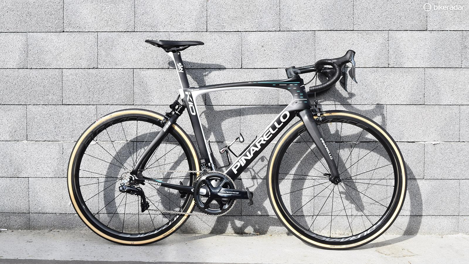 Geraint Thomas' Pinarello Dogma K10 for the 2018 Paris-Roubaix