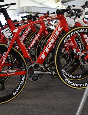 Trek's component brand Bontrager provides everything from wheels to saddles to stem
