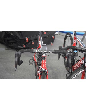 Canyon branding adorns nearly every component of the bike