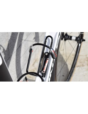 Elite Ciussi bottle cages are wider than normal bottle cages to ensure no bottles are lost over the cobbles