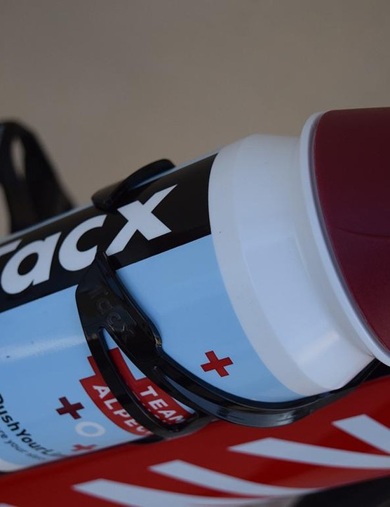 Tacx provides the Swiss-registered team with bottle cages and bidons