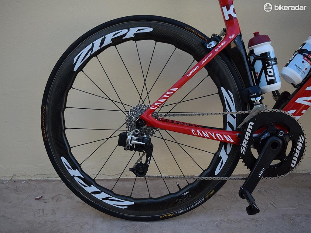 The wheels are paired with the popular Continental Competition ALX tubular tyres
