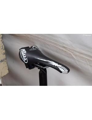 Greipel pairs his custom frame with a custom saddle
