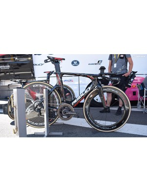 Lotto-Soudal raced the stage on a Ridley Dean Fast TT bike