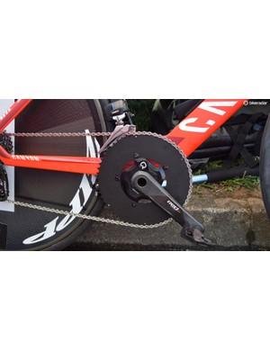 Katusha-Alpecin also appeared to use non-standard chainrings, with unbranded outer rings on their Sram cranksets