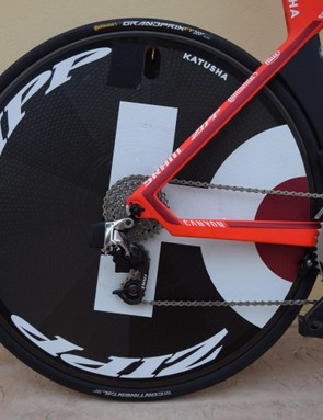 The wheels are paired with 25mm Continental Grand Prix tubular tyres