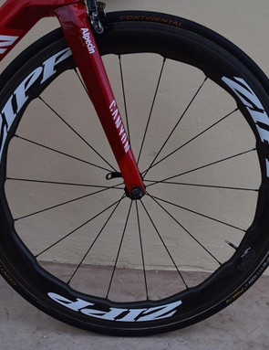 Kittel's Canyon is paired with Zipp's 454 NSW wheels