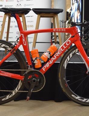 Team Wiggins' Pinarello Dogma F10 for 2018