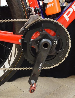 Gabriel Cullaigh opts for a 53/39 crankset equipped with a Quarq power meter
