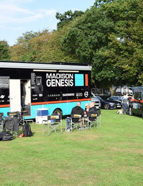 British Continental squad Madison-Genesis was at the event ahead of the Tour of Britain two days later