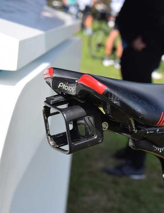 A spare GoPro cage and saddle mount means that rather than swapping cages over mid-ride, you can just move the GoPro