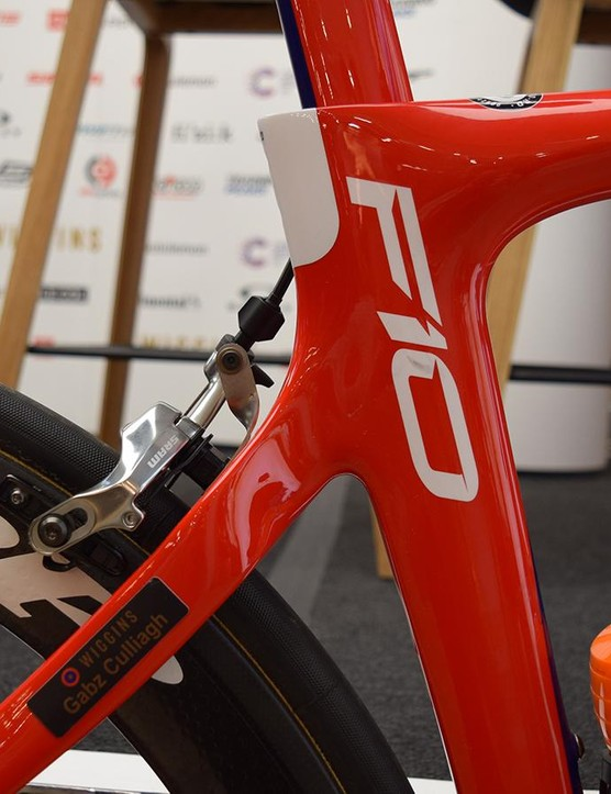 A look at the seat cluster of the Pinarello Dogma F10