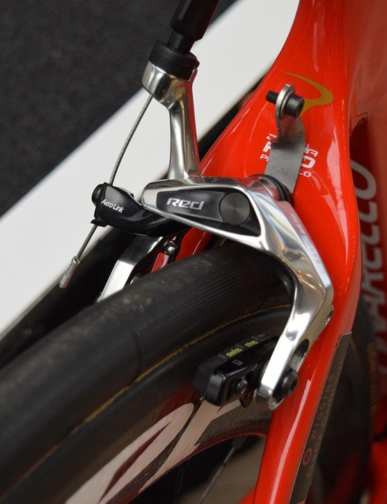 A look at the SRAM Red rear brake