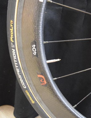 Like several WorldTour teams, Team Wiggins opts for Continental Competition ALX 25mm tubular tyres
