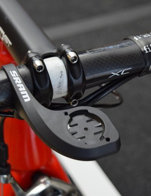 SRAM also provides the out-front mount for the team's computer