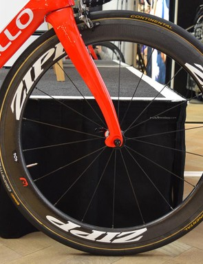 The team has Zipp wheels to choose from for the upcoming season