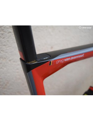 Marking the seatpost allows for quick and easy bike setup for team mechanics