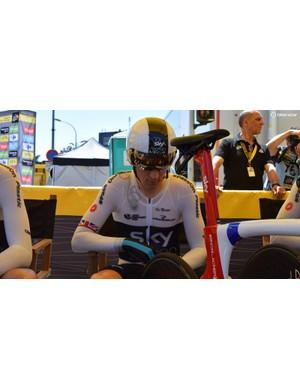 Geraint Thomas wears the new Castelli Body Paint 4.2b speedsuit