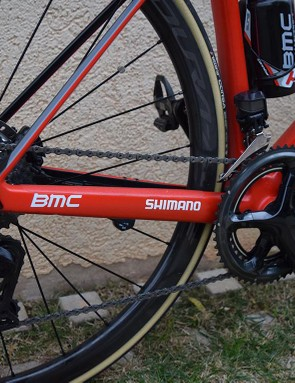 The BMC Teammachine SLR01 disc is optimised for 160mm rotors at the front and 140mm at the rear