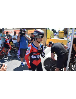 Richie Porte and his BMC Racing teammates wore new speedsuits from Assos