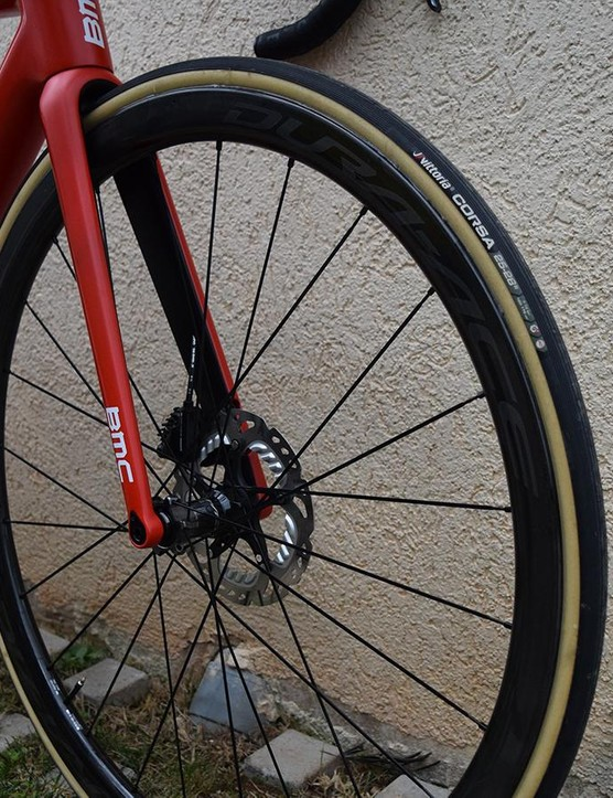 The team also uses Shimano's Dura-Ace R9100 series wheels, available in disc- or rim-brake versionss