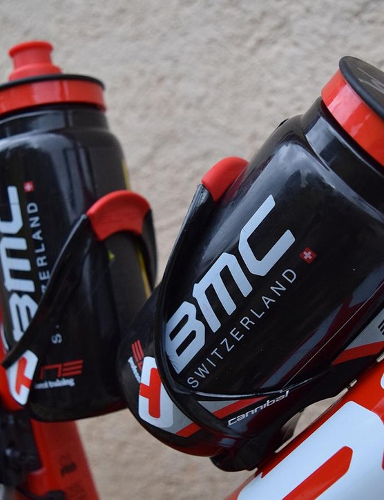Elite Cannibal cages and team edition bidons for BMC Racing