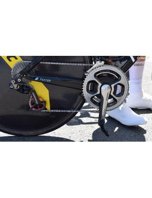 AG2R La Mondiale used heavily lubricated chains for the race