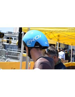 Romain Bardet's Ekoi time trial-specific helmet