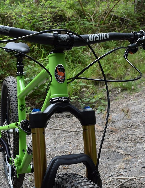 Cotic's headtube badge is a familiar sight in the UK