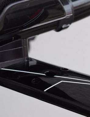 A closer look at the stack under the handlebar extensions and the wider placement holes