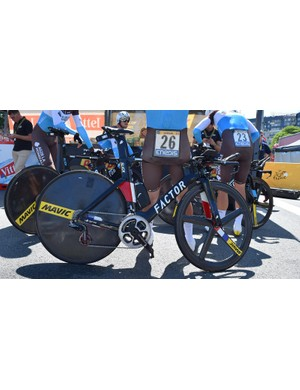 Pierre Latour has a custom finished Factor Slick as French national time trial champion