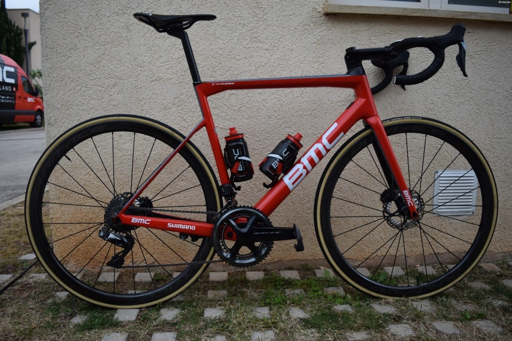 Greg Van Avermaet has been testing the disc version of BMC's Teammachine SLR01 ahead of the season