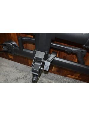 A foot lever allows tilting