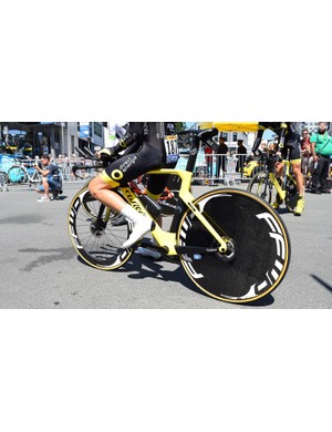 Direct Energie raced the stage on their Wilier Turbine Disc time trial bike