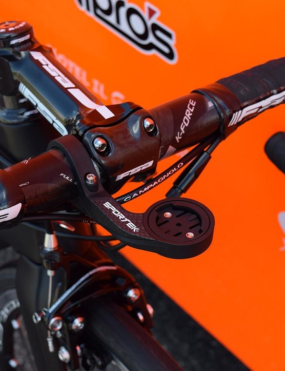 Sportek provides the Pro Continental team with out-front computer mounts