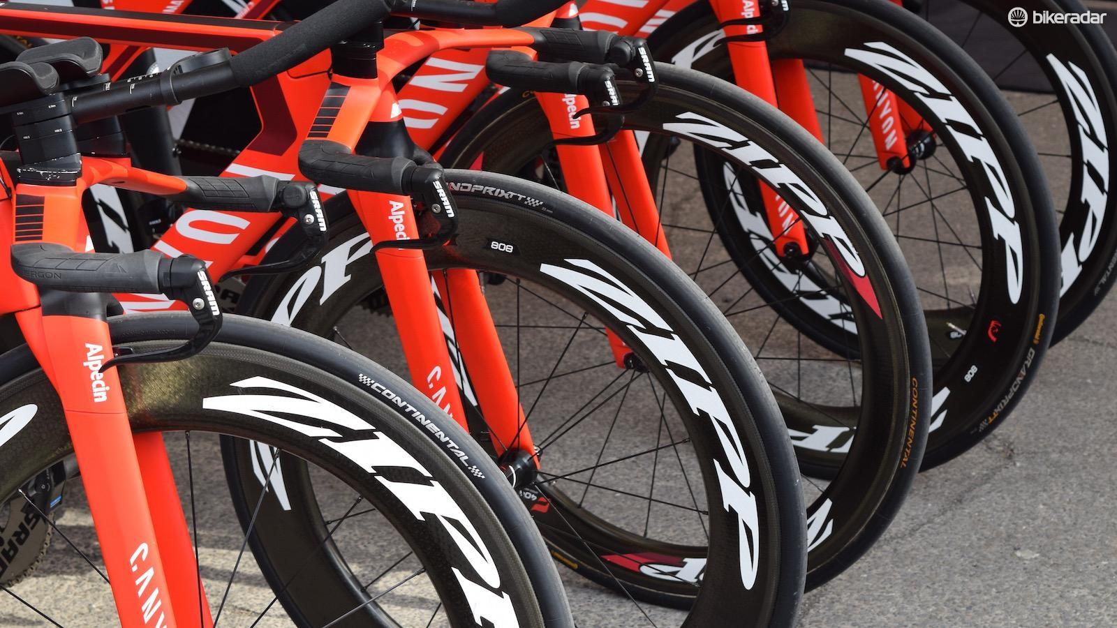 Zipp 808 front wheels all round at Katusha-Alpecin