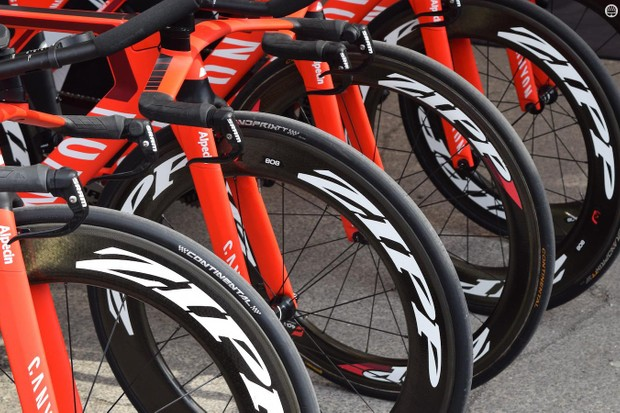 Zipp 808 front wheels all round at Katusha-Alpecin