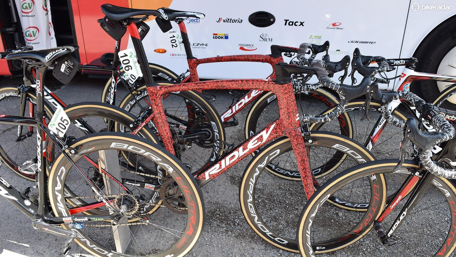 Marcel Sieberg and Andre Greipel raced on the bikes for Stage 2 of the race