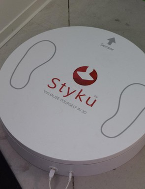A Styku scanner provides a complete 3D model of the cyclist