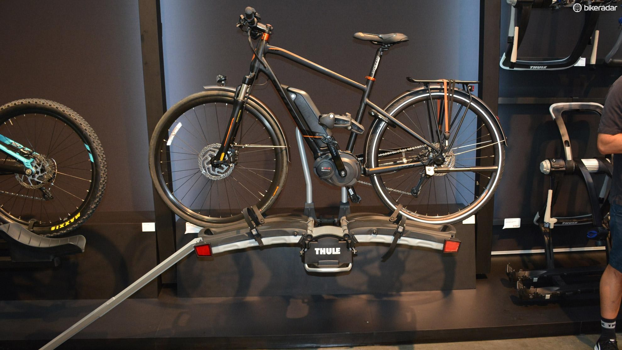 Thule's EasyFold rack is made for e-bikes