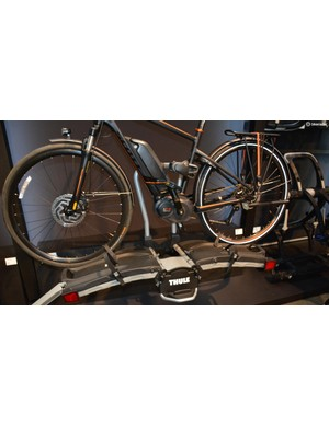 The EasyFold can handle two 60lb bikes