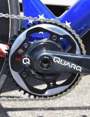 SRAM provides the team with drivetrain components, including power meters from Quarq