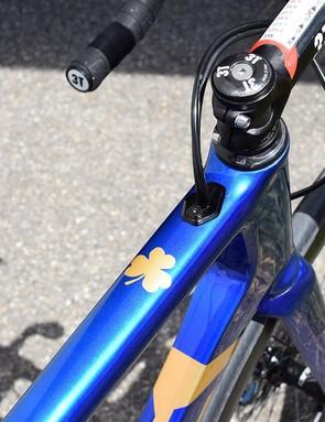 Aqua Blue Sport celebrates its Irish heritage with a shamrock on the top tube
