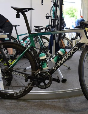 The 2018 Bora-Hansgrohe bikes have been giving the same green design as the team jerseys